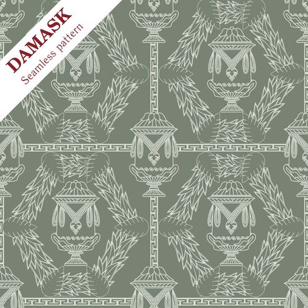 Vector Damask seamless ornament for wallpaper