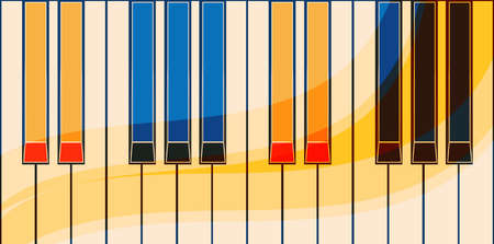 Vector abstract colorful piano keyboard background. Illustration