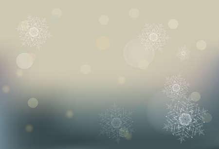 Winter bokeh vector background. Christmas wallpaper. EPS 10