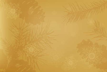 Golden vector Christmas background. Bokeh effect. EPS 10 免版税图像