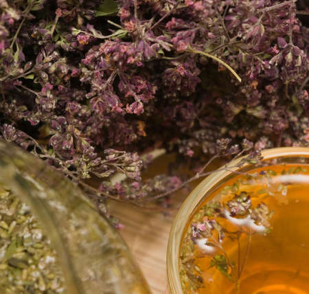 curative: Curative tea with origanum