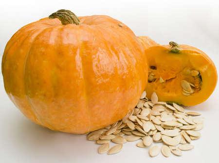 A pumpkin and pumpkin seeds Stock Photo - 3711546