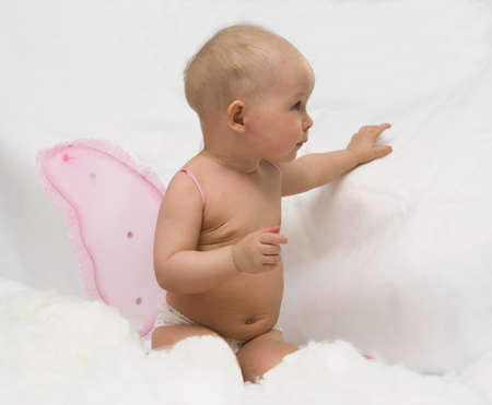 the Image of the child on a white background Stock Photo - 4054856