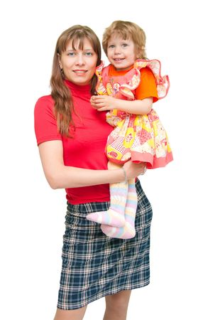 The image of the woman with the child on hands Stock Photo - 6106698