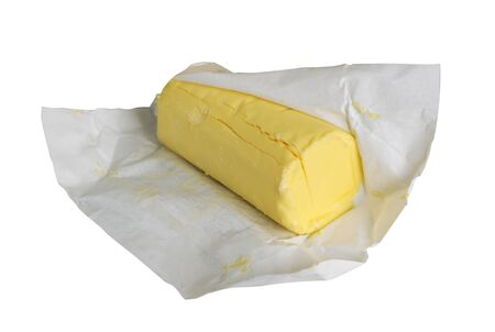 Pack of butter, just unwrapped.