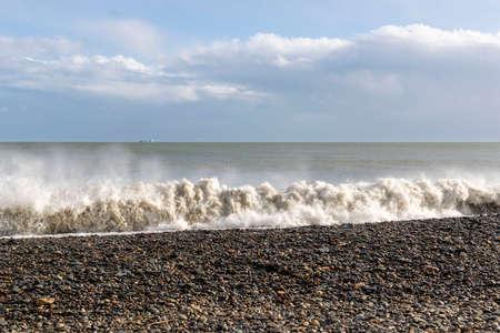 Stormy sea waves. Coast of ireland.