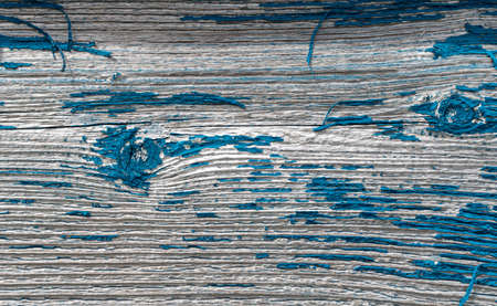 Blue painted wooden surface for background or texture