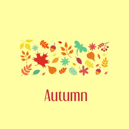 autumn leaves background: Autumn leaves background. Vector illustration.