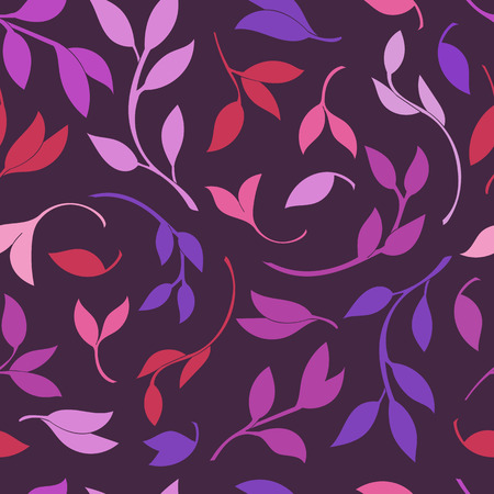 autumn garden: Seamless Leaves pattern. Vector colorful background and texture.