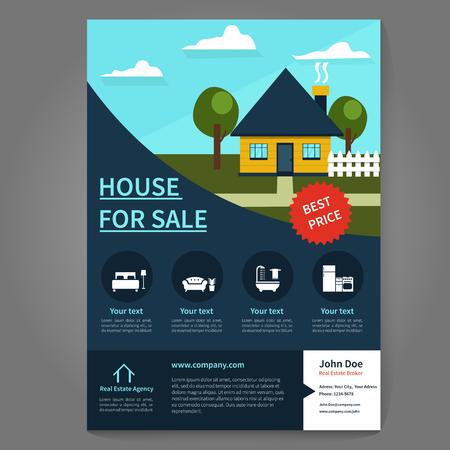 broker: Real estate broker flyer and poster template. Flyer concept.