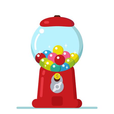 bubble gum: Vector Gumball machine illustration. Bubble gum machine in cartoon style.