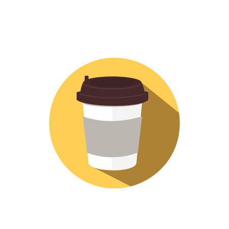 go to store: Coffee flat vector icon.