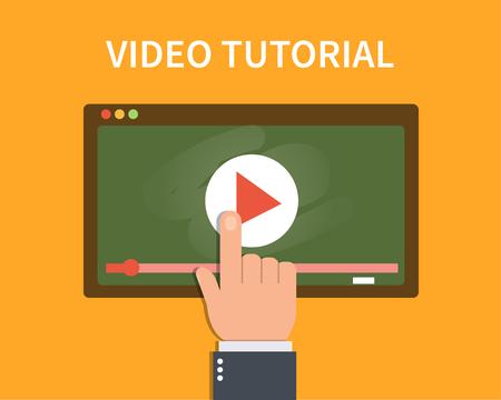 tutorial: Video tutorial concept banner.
