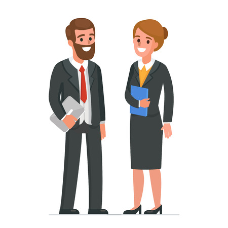 Businessman and businesswoman  characters. Vector illustration.