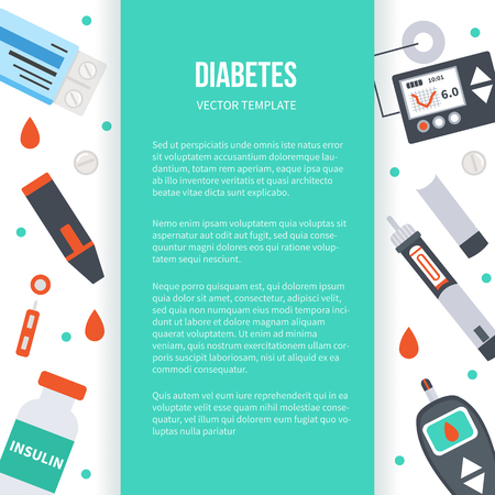 Diabetes concept banner. Vector medical illustrations. Ilustrace