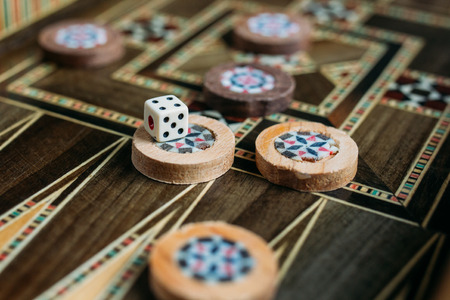 backgammon: Turkish backgammon game Stock Photo