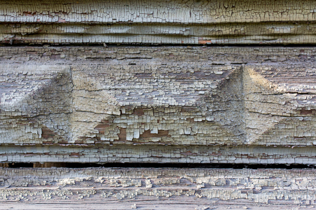 texture of old wood with distressed paint in various colors stock