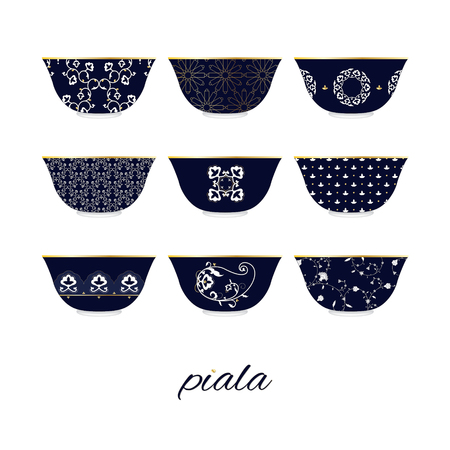 Set of bowls for pahta Stock Vector - 125920302