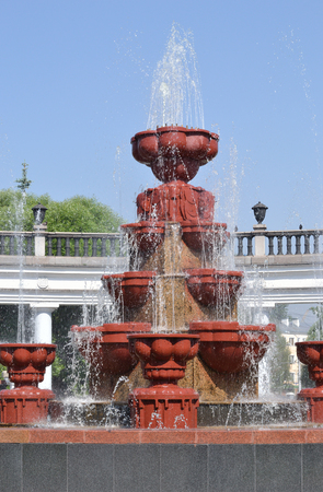 Fountain in the city park. Stock Photo