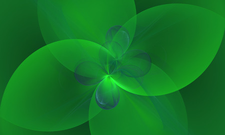 Green abstract floral background. Banco de Imagens