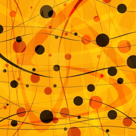 Abstract background of a line black circles
