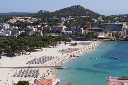 beach in the bay of Santa Ponsa Mallorca