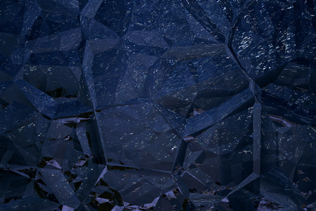 rock stone: Abstract decorative background in dark blue shades with a pattern of various shapes, similar to the stones