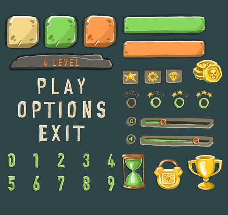 Game template with elements of game objects