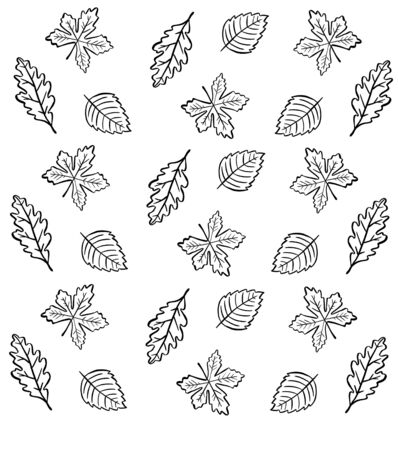 autumn floral background with leaves
