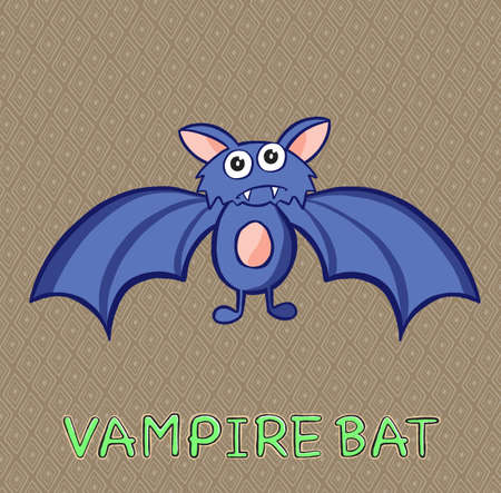 Cartoon bat Halloween quality illustration Vettoriali