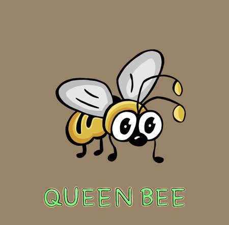 Cute bee cartoon quality illustration