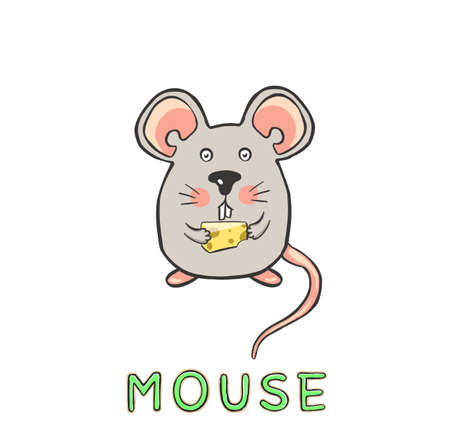 design Cute mouse. small icon for stock.