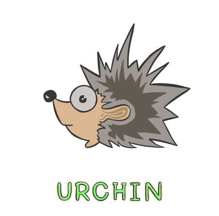 design Adorable hedgehog. small icon for stock. Ilustrace