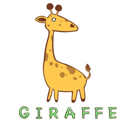 Cute cartoon trendy design little giraffe