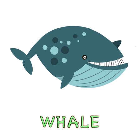 design Cute whale. small icon for stock.