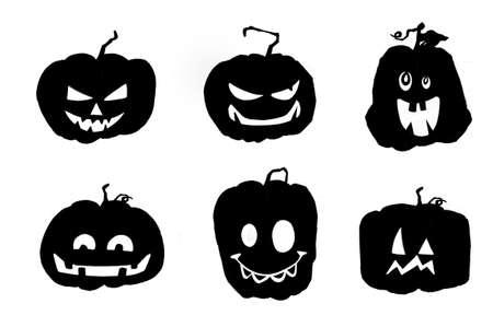 halloween pumpkins. Isolated on white background. 矢量图像