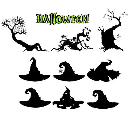 A set of assorted illustrations for Halloween