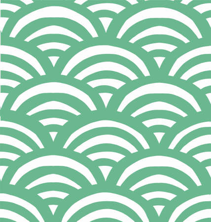 Green chevron geometric seamless pattern. Vector illustration