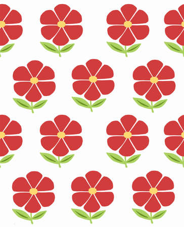 Floral pattern, texture with flowers. Vector illustration