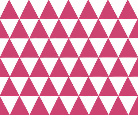 red chevron geometric seamless pattern. Vector illustration Vettoriali