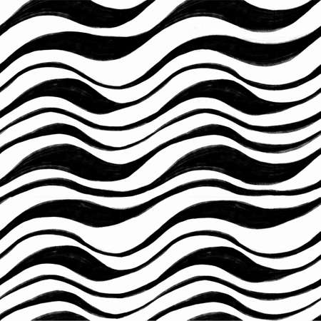 The geometric pattern by stripes. Seamless vector background. Black and white texture. Graphic modern pattern. Vector illustration Vector Illustratie