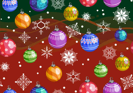 new year toys hand pattern seamless print textile Vector illustration