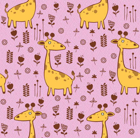 Baby seamless pattern. Cute giraffe. Creative scandinavian kids texture for fabric, textile, wallpaper, apparel. illustration in pastel colors. illustration. High quality illustration
