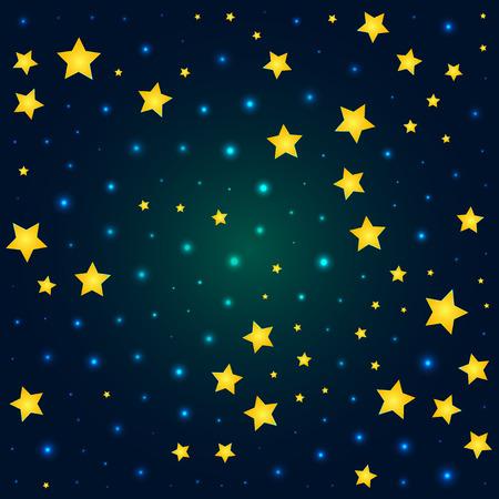 deep: vector cartoon deep sky with sparkle and glow