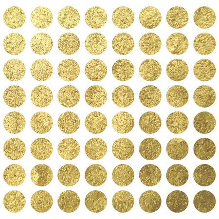 wadding: Golden circle dots square christmas wadding birthday design template Illustration