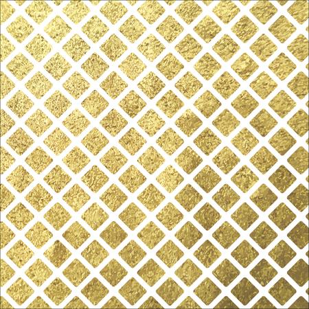 black block: Brillo de oro baldosas rombo cuadrado sobre fondo blanco Vectores