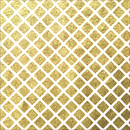 Golden shine square rhombus tile on white background