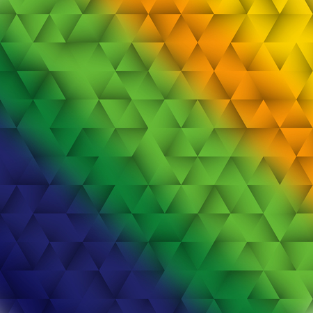 Vector illustration of Brazilian flag color triangle abstract background Фото со стока - 60337552
