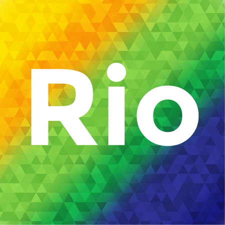 Rio color vector illustration