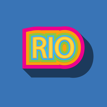 Rio color vector illustration Фото со стока - 60337860